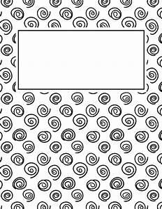 free printable black and white spiral binder cover With black and white binder cover templates