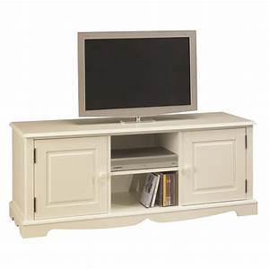 Meuble Hifi But : meuble tv hifi blanc charme de style anglais maison et styles ~ Teatrodelosmanantiales.com Idées de Décoration
