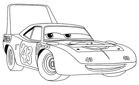How To Draw King From Disney Pixar's Cars With Easy Step