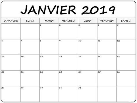 calendrier janvier imprimer calendrier janvier imprimer