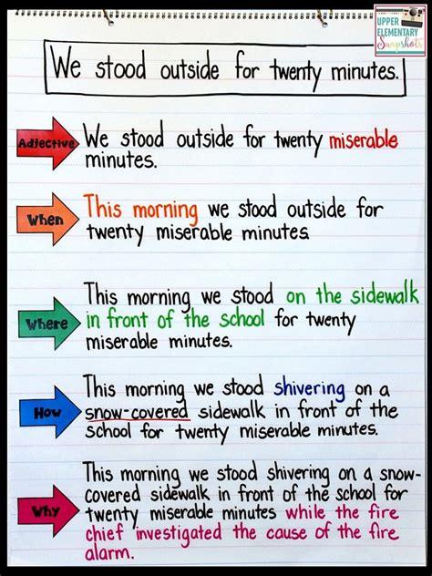 writing lesson expanding sentences writing lessons