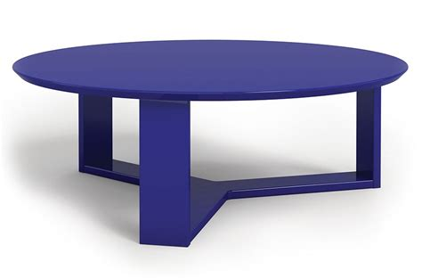 Navy Blue Coffee Table With Tufted Ottoman  Roy Home Design