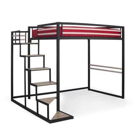 home mezzanine 140x200 achat vente lit mezzanine pas cher couleur et design fr
