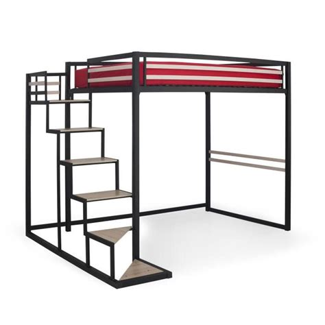 bureau angle alinea home mezzanine 140x200 achat vente lit mezzanine pas