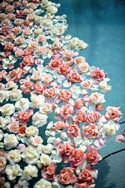 floating florals pool wedding flowers floating