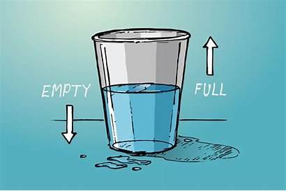 Half Empty Glass Positive Pandemic Attitude Covid
