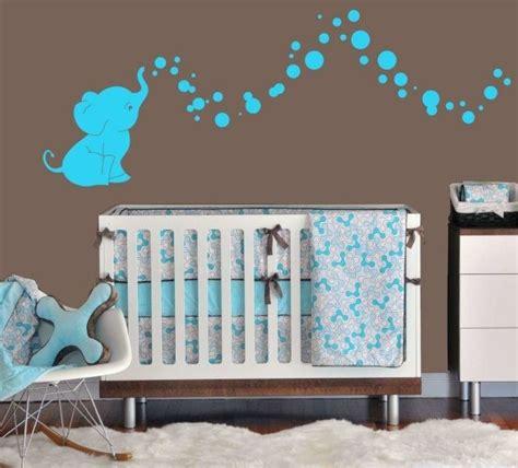 Babyzimmer Gestalten Wandtattoos by Babyzimmer Gestalten Neutral Aqua Braun Elephanten