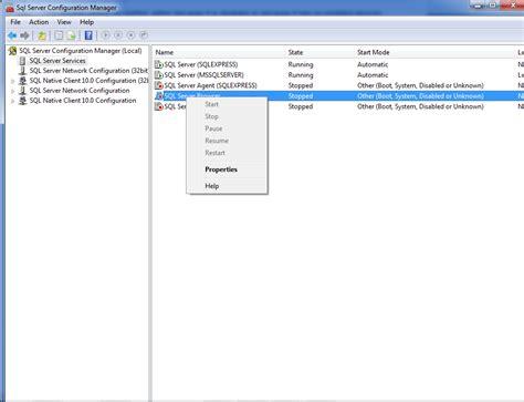I cannot start SQL Server browser - Stack Overflow