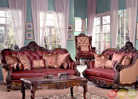 traditional luxury leather formal living room sofa set hd
