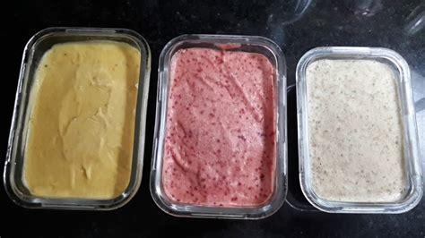 Ice cream merupakan salah satu jenis makanan yang cukup populer di indonesia. Ice Cream 3 Rasa | Cara Membuat Ice Cream Di Rumah / Healthy Ice Cream. Good For Dessert # ...