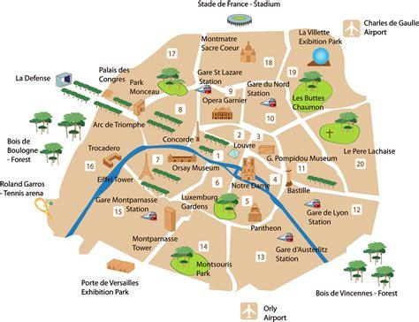 paris main districts paris map france