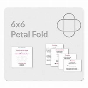 petal fold 6x6 invitation template With 6 x 6 wedding invitation template