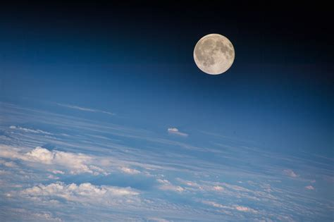 Moon Seen From The International Space Station Earth Blog