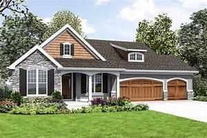 Cute Craftsman House Plan With Walkout Basement - 69661am