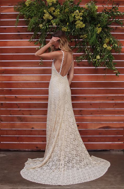 Amber Backless Bohemian Wedding Dress Dreamers And Lovers