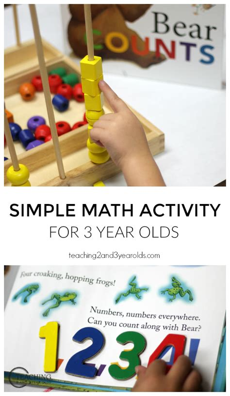 preschool math activity with counts 614 | Bear Counts Simple Math for 3 Year Olds