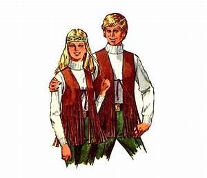 Vintage 1970s Mens Hippie Vest Set Simplicity 8938 Sewing ...