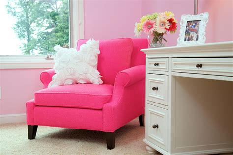 chic pink chair vogue cleveland traditional bedroom