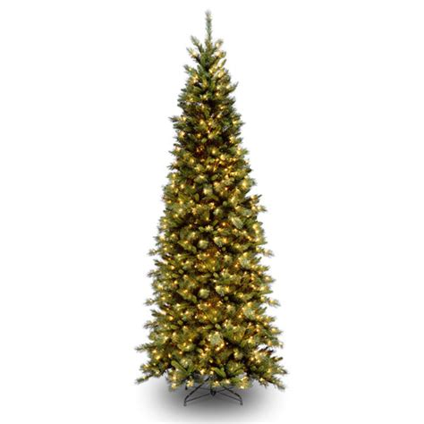 tiffany fir 9 green slim artificial christmas tree with