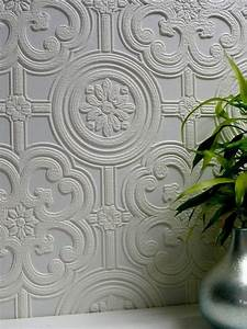 Dress up walls with textured, paintable wallpaper called ...