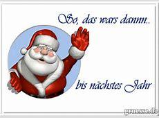 Weihnachten vorbei • Grußkarten eCards bedanken