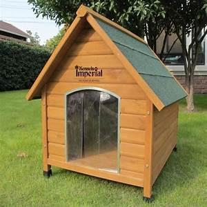 Niche Pour Chien Avec Terrasse : niche pour chiens moka avec terrasse et escalier en bois ~ Dailycaller-alerts.com Idées de Décoration