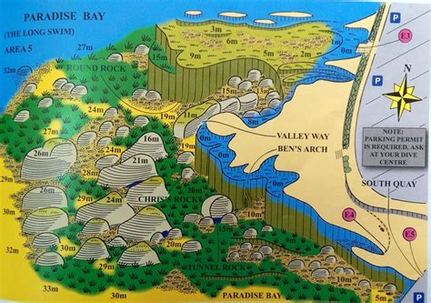 Dive Site Map For Paradise Bay, Cirkewwa  Best Place To