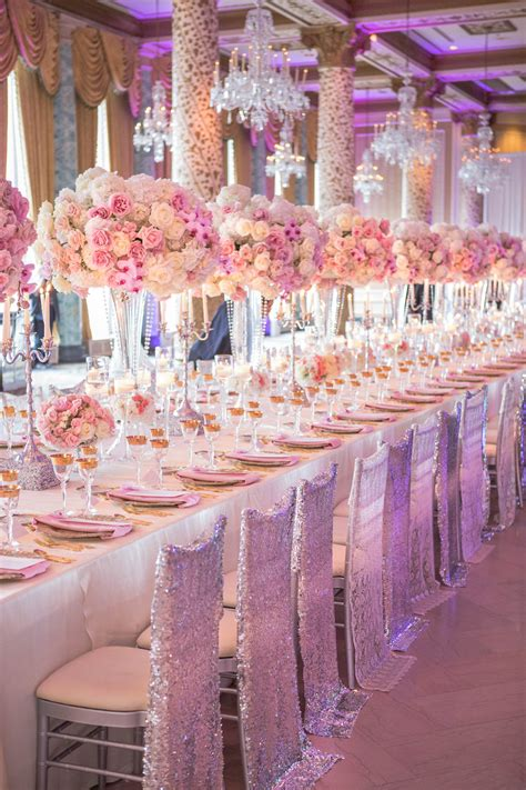 wedding ideas long reception tables belle  magazine