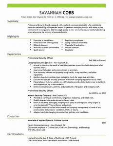 best professional security officer resume example livecareer With free security resume