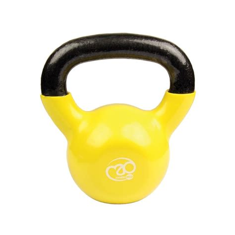 fitness mad 8kg kettlebell yellow running training exercise equipment