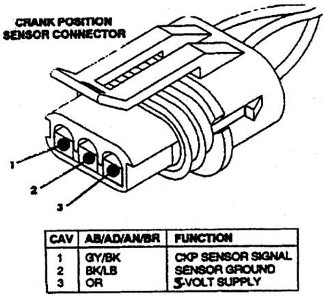 service manual  chevrolet suburban  crank sensor