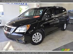 Nighthawk Black Pearl - 2008 Honda Odyssey Ex-l - Ivory Interior