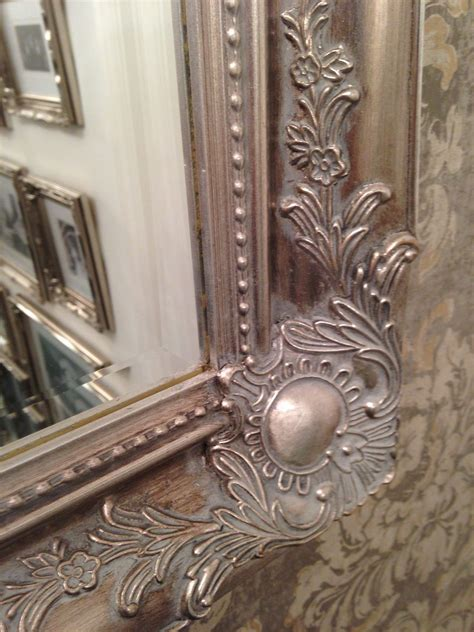 Silver Wall Mirrors Decorative - large antique silver shabby chic ornate decorative
