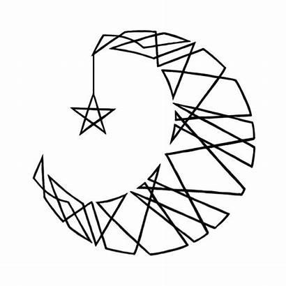 Moon Drawing Line Crescent Clip Clipart Clipartmag