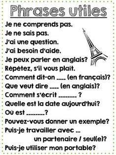Printable French Classroom Poster - Useful Classroom Phras ...