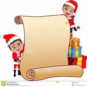 Blank christmas scroll clip art clipart panda free for Scroll letter from santa