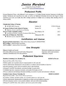 resume sles for rns in term care nursing resume ii