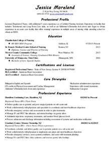 Psychiatric Nurse Resume Sample