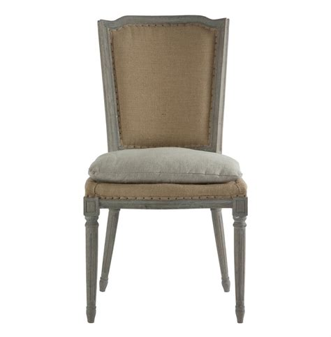 pair ethan country rustic hemp dining chair with