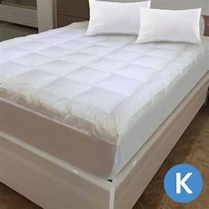 luxo king microfibre pillow top mattress topper buy king With best mattress topper for king size bed
