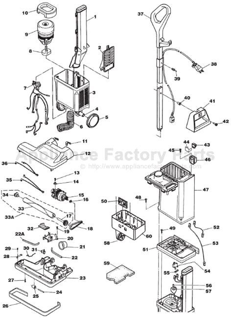 Electrolux Vacuum Wiring Diagram by Electrolux U139a Parts Vacuum Cleaners
