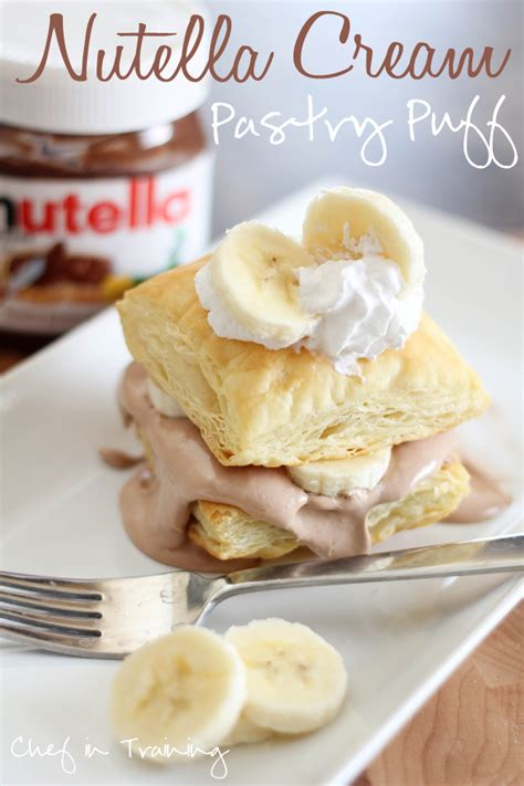 nutella pastry puffs chef in