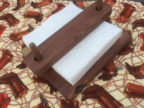 napkin holder solid pine rustic indooroutdoor