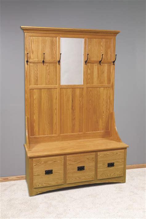 mission hall tree  storage bench  drawer