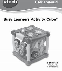 Vtech Busy Learners Activity Cube Owners Manual