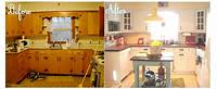 kitchen remodel before and after Get the Fresh and Cool Outlook Inspiration with Kitchen ...