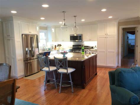Split Level Kitchen Living Room Remodel by Remodeled Split Foyer Kitchen Removed Walls For Open