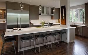 Open, And, Modern, Kitchen, Design