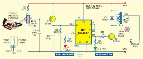 Circuit Diagram Of Control Fan And Light Using Tv Remote