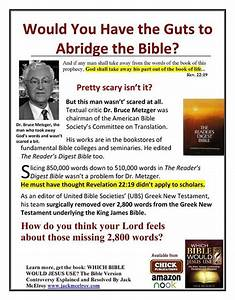 Would You Have the Guts to Abridge the Bible? - King James ...